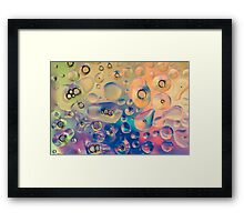 Funky Bubbles for Vibrant Textile and Decorative Wall Art Prints Framed Print