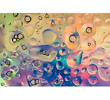 Funky Bubbles for Vibrant Textile and Decorative Wall Art Prints Photographic Print