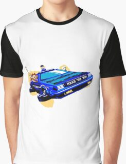 Back to the Future/ Doctor Who DeLorean Tardis Mashup Graphic T-Shirt