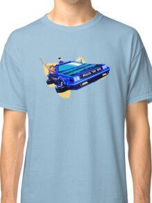 Back to the Future/ Doctor Who DeLorean Tardis Mashup Classic T-Shirt