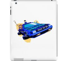 Back to the Future/ Doctor Who DeLorean Tardis Mashup iPad Case/Skin