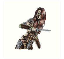 The Elder Scrolls- Skyrim- Aela The Huntress Art Print