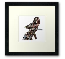 The Elder Scrolls- Skyrim- Aela The Huntress Framed Print