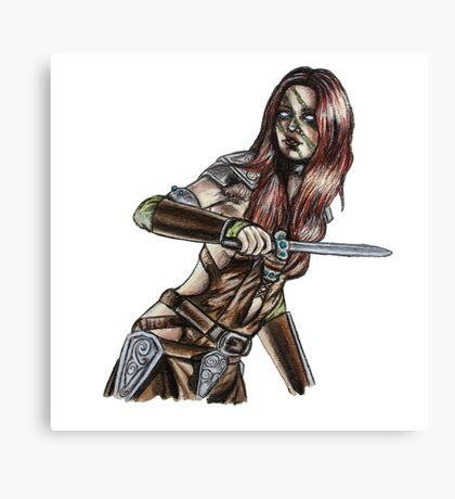 The Elder Scrolls- Skyrim- Aela The Huntress Canvas Print