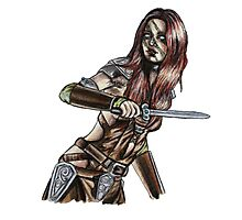 The Elder Scrolls- Skyrim- Aela The Huntress Photographic Print