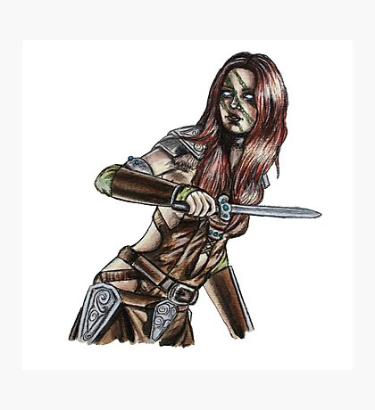 The Elder Scrolls- Skyrim- Aela The Huntress Photographic Print