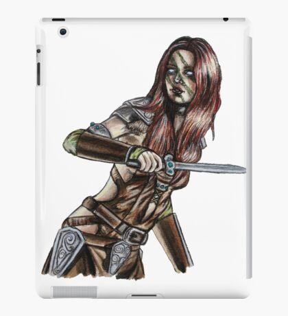 The Elder Scrolls- Skyrim- Aela The Huntress iPad Case/Skin