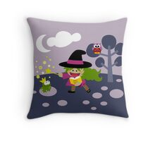 Tiny Witch Throw Pillow