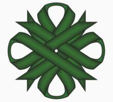 Emerald Green Clover Ribbon Kids Tee