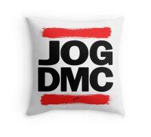 JOG DMC black Throw Pillow