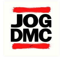 JOG DMC black Art Print