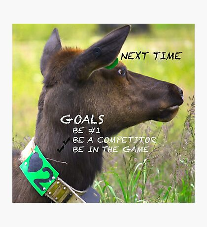 Thinking Positively:  Setting Goals Photographic Print