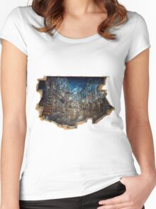 Diagon Alley  Women's Fitted Scoop T-Shirt