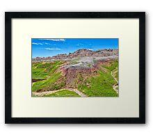 Winding Dry River Framed Print