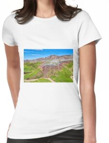 Winding Dry River Womens Fitted T-Shirt
