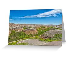 Colorful Badlands Greeting Card