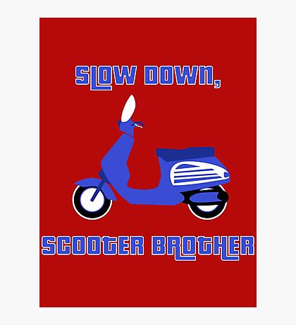 Scooter Brother Photographic Print