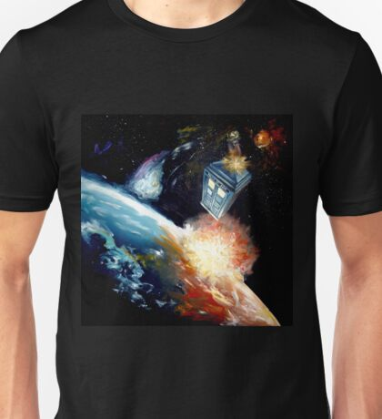 Tardis in space Unisex T-Shirt