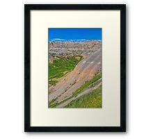 Verdent Badlands Framed Print