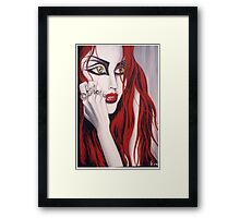 Eden- painting of a red haired girl Framed Print
