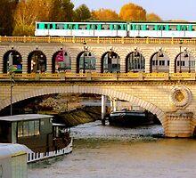 Sunny autumn on the Seine - Bercy Bridge, Paris by bubblehex08