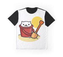 Neko Atsume, Beach Day Graphic T-Shirt