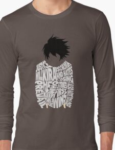 Death Note - L - Typography  Long Sleeve T-Shirt