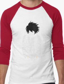 Death Note - L - Typography  Men's Baseball ¾ T-Shirt