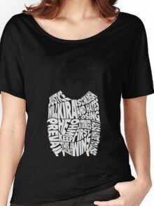 Death Note - L - Typography  Women's Relaxed Fit T-Shirt