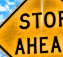 Stop Ahead Sticker