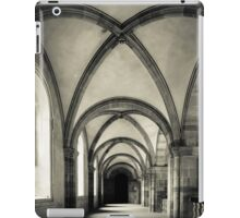 Majestic medieval cathedral interior view, old gothic church iPad Case/Skin