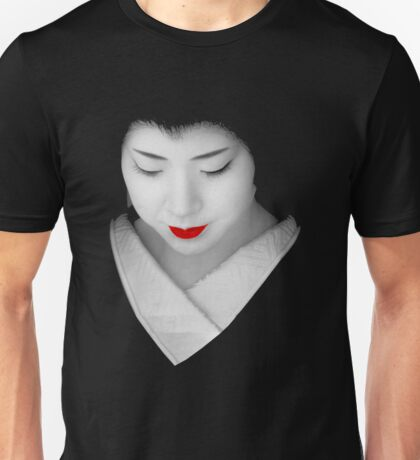 Geisha red lip Unisex T-Shirt