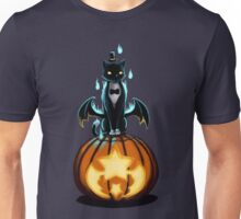 Halloween Cat and Pumpkin Unisex T-Shirt