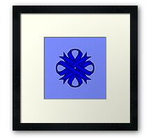 Blue Clover Ribbon Framed Print