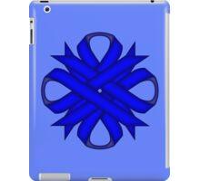 Blue Clover Ribbon iPad Case/Skin