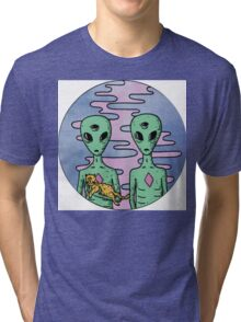 Alien Twins Tri-blend T-Shirt