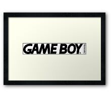 gameboy logo Framed Print