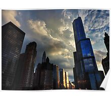 Chicago Cityscape 003 Poster