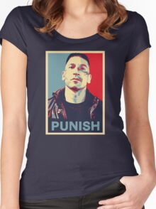 Punisher for President Women's Fitted Scoop T-Shirt