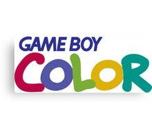gameboy color logo Canvas Print