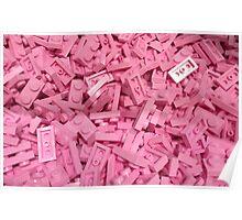 Pink Lego Ocean Poster