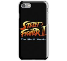 street fighters logo iPhone Case/Skin
