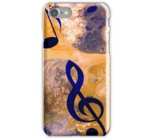 Abstract Acrylic Painting Music Notes iPhone Case/Skin