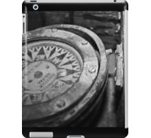 Black and White Compass iPad Case/Skin