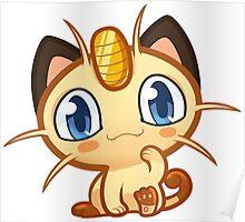 Meowth logo Poster
