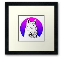 Wolf - Blue & Purple Framed Print