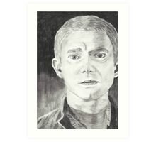 Martin Freeman as John Watson  Art Print