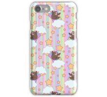 Rainbow Sloth Pattern iPhone Case/Skin