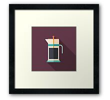 French Press Coffee Framed Print