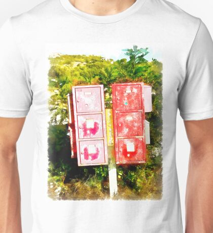 Arzachena: red mailboxes Unisex T-Shirt